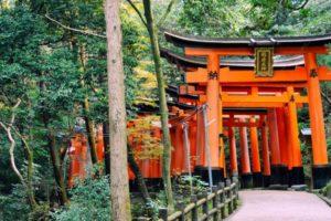 Photo of the Fushimi Imari Shrine in Kyoto Japan