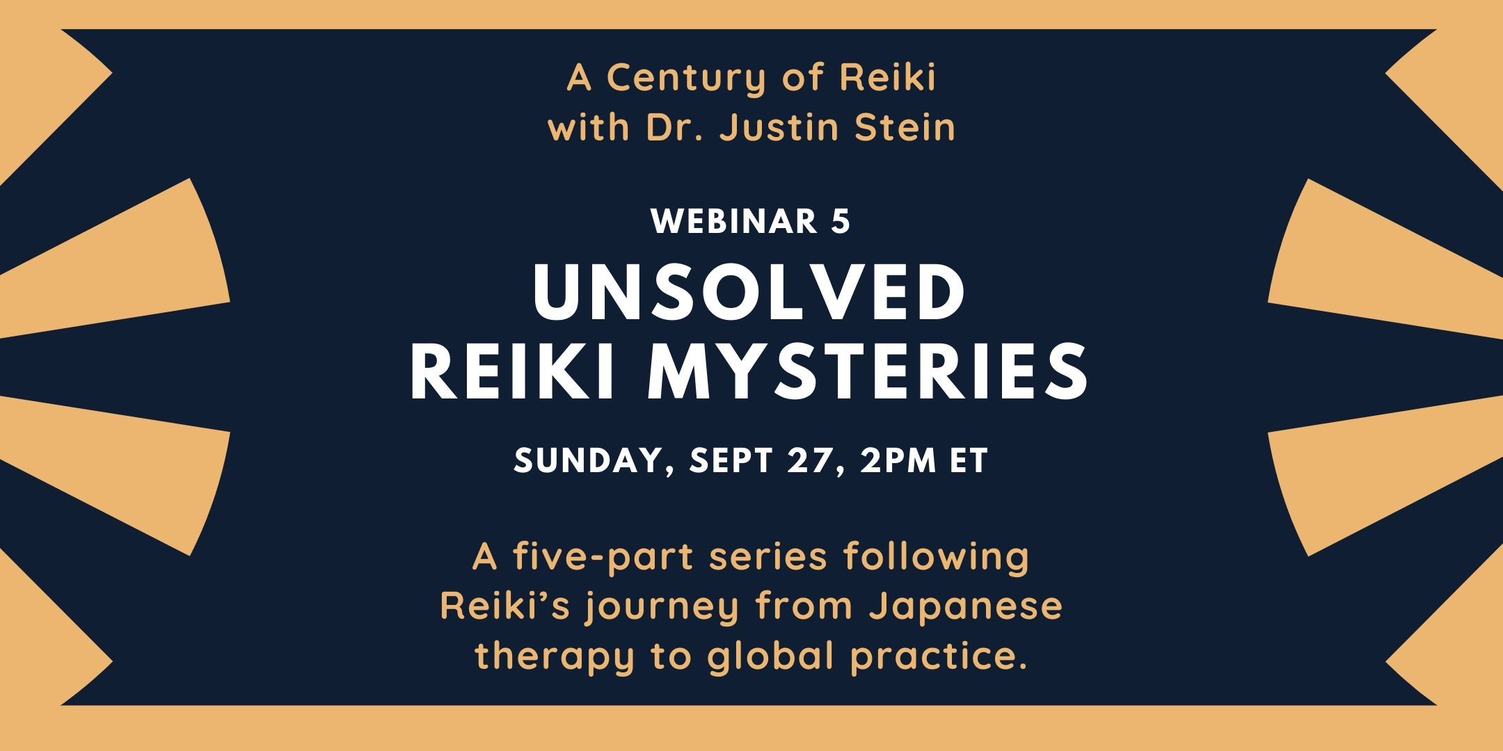 Image for webinar 5 in the series A Century of Reiki with Dr. Justin Stein